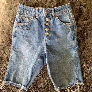 Topshop cropped shorts